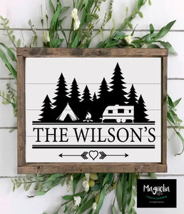 Camping Family Name- Personalized