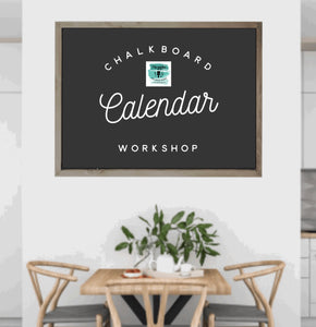 Chalkboard Calendar Workshop