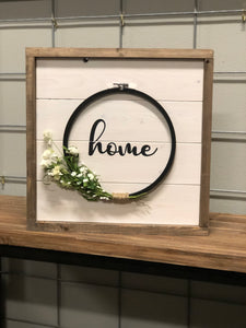 Farmhouse Embroidery Loom Sign