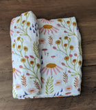 Forest Floral Bamboo Swaddle Blanket