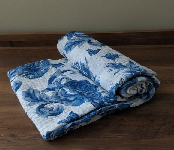 Blue Butterfly Swaddle