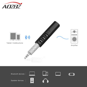 AOZBZ Universale 3.5mm Car Kit Bluetooth 4.1 Receiver Music Audio Receiver Adapter Auto AUX Streaming Kit for Speaker Headphone - WORLD-TECHNOLOGIE