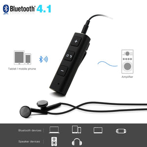 DONO transformer votre haut-parleur/casque en mode sans fil /Bluetooth Car Bluetooth Headphones Headset Audio Music Receiver Adapter Wireless Handsfree Bluetooth Earphone - WORLD-TECHNOLOGIE