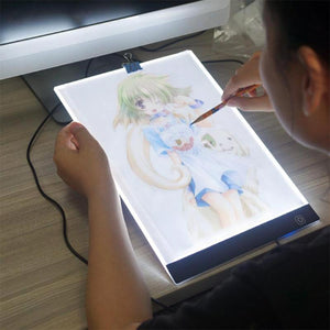 Graphic Tablet Display Portable USB A4 LED Digital Drawing Tablet Pad Artist Stencil Board Tracing Writing Light Box - WORLD-TECHNOLOGIE