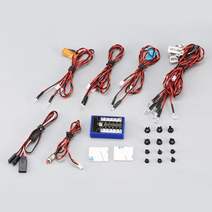 12 LED Pour RC CAR Accessoires phares RC Car Kit System for 1/10 1/8 RC Drift HSP TAMIYA CC01 4WD Axial SCX10 RC Car Truck - WORLD-TECHNOLOGIE