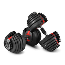 Load image into Gallery viewer, 52.5LBS Adjustable Dumbbell Set