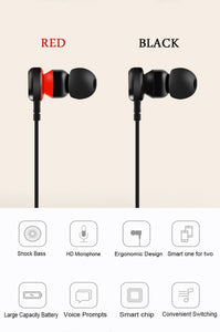 PTM B5 Earphone Headphone Bluetooth Headset Wireless Earbuds With Microphone
