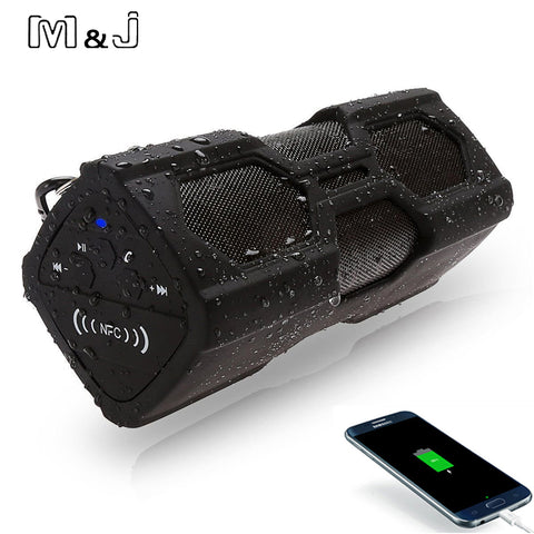 M&J NFC Portable Speaker Waterproof Wireless Bluetooth Speaker