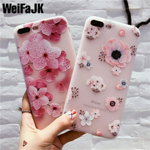 Flower Pattern Case For iPhone