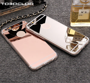 TOBOCLOO Cases Luxury Mirror Silicone Case For iPhone