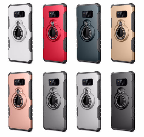 Voppton For Samsung Galaxy S8 plus Case Cover Hard Armor 360 Degree Rotation Kickstand For S7 S7 Note 8
