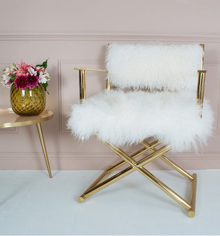 Gold chair inspo