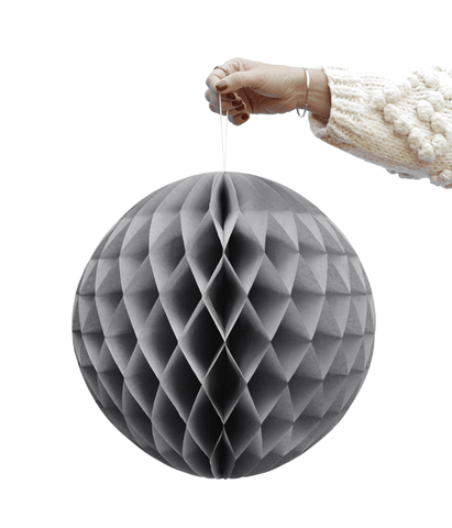 Grey honeycomb ball - Pavot blue Interiors