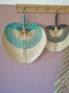 Green bamboo fan