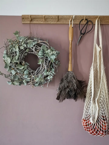 Sold out... Natural birch wreath with dried hopps