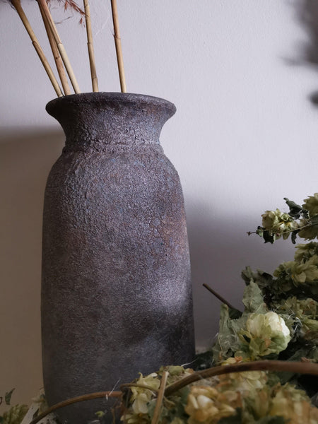 Tall Bali vase - Pavot blue Interiors