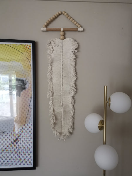 Macrame leaf large