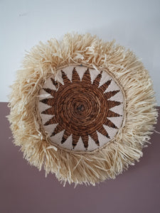 Tribal raffia wallhanging/placemat