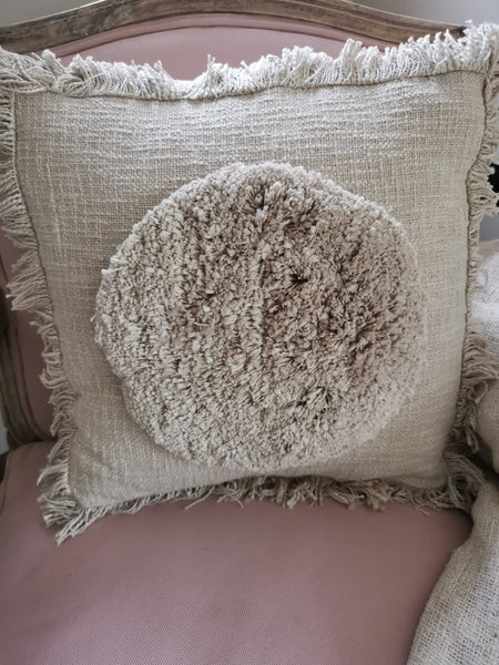 A natural on trend taupe cushion cover - Pavot blue Interiors