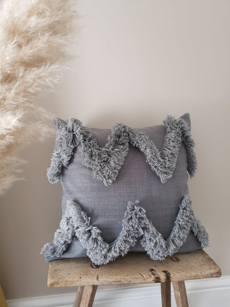 grey cotton cushion cover