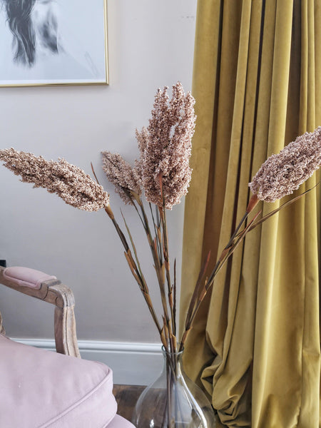 tall faux pampas style flower