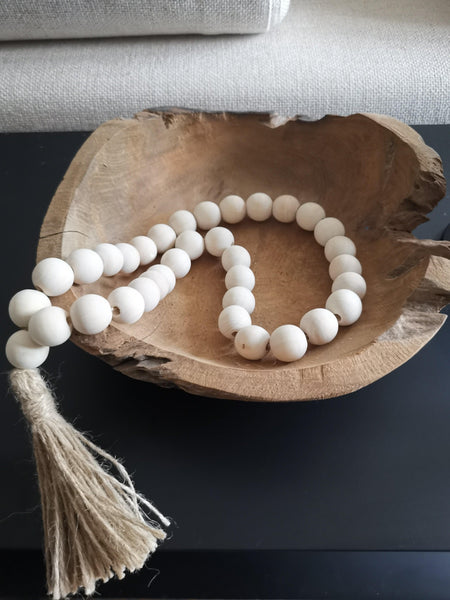 Boho natural beads with tassle