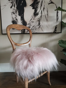 Light pink sheepie chair cover/stool cover