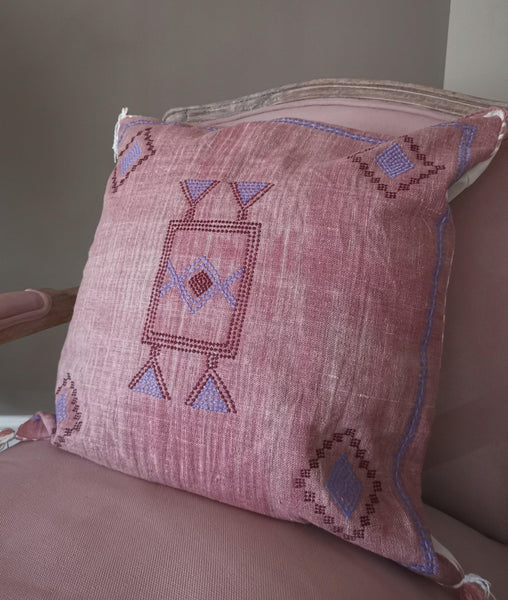 Moroccan style cotton cushion cover