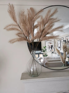 Faux pampas grass stems in COCO