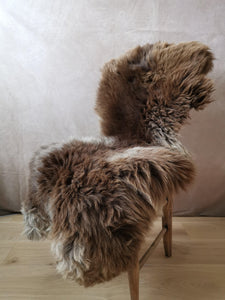 Large grey, cream and  brown uk rare sheepskin..MARLO