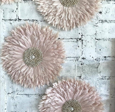 A beautiful pink juju hat wallhanging
