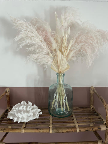 Pink pampas grass bouquet