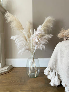 PEACHES AND CREAM Tall pampas grass bouquet