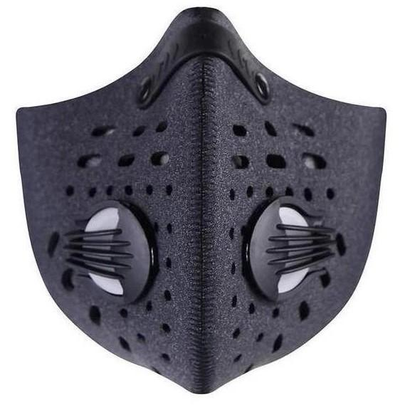 Black face mask with filters and valves | TwentyDrop
