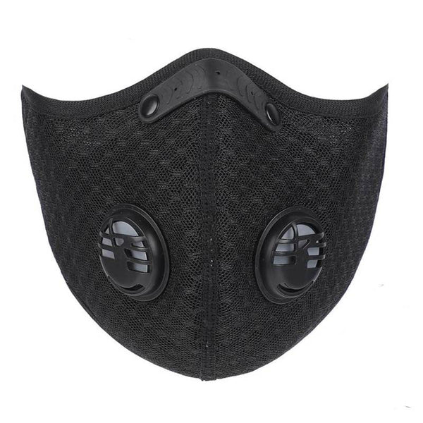 Soft Black Mesh Mask with filters Front View | TwentyDrop
