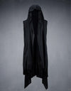 Dark Edge Draping Sleeveless Hoodie - TwentyDrop