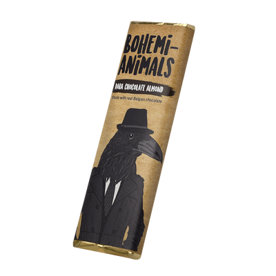 Bohemi-Animals Dark Chocolate Almond Bar