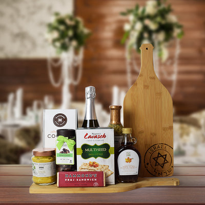 Kosher Champagne & Snacks Gift Basket, champagne gift baskets, gourmet gift baskets