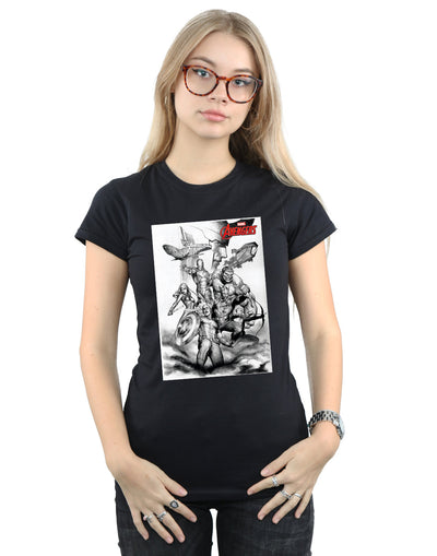 Marvel Women's Avengers Assemble Team Sketch T-Shirt