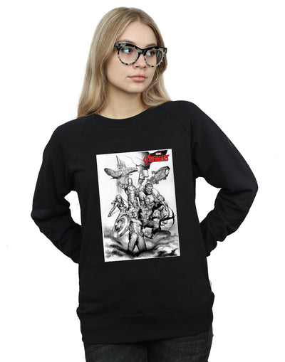 Marvel Women's Avengers Assemble Team Sketch Sweatshirt