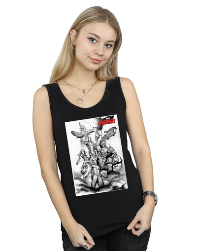 Marvel Women's Avengers Assemble Team Sketch Vest