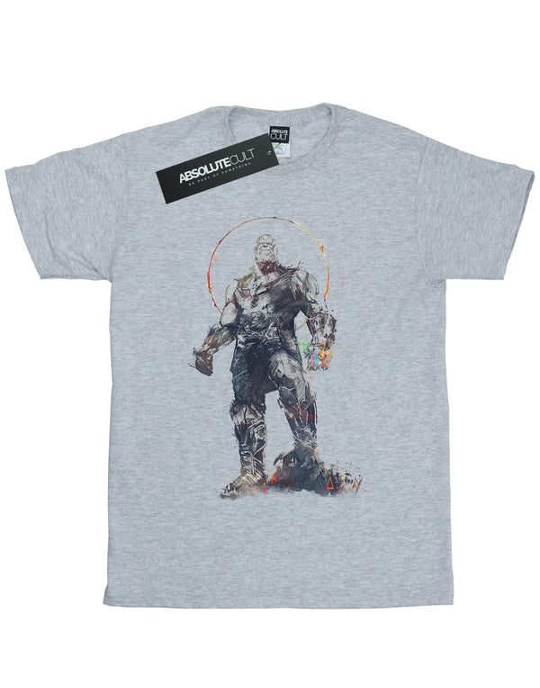 Avengers Women's Infinity War Thanos Sketch Boyfriend Fit T-Shirt