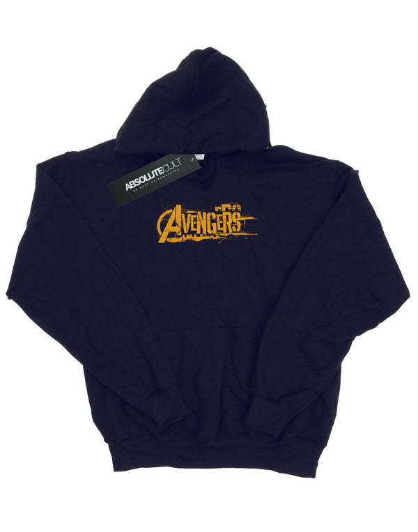 Avengers Women's Infinity War Orange Logo Hoodie