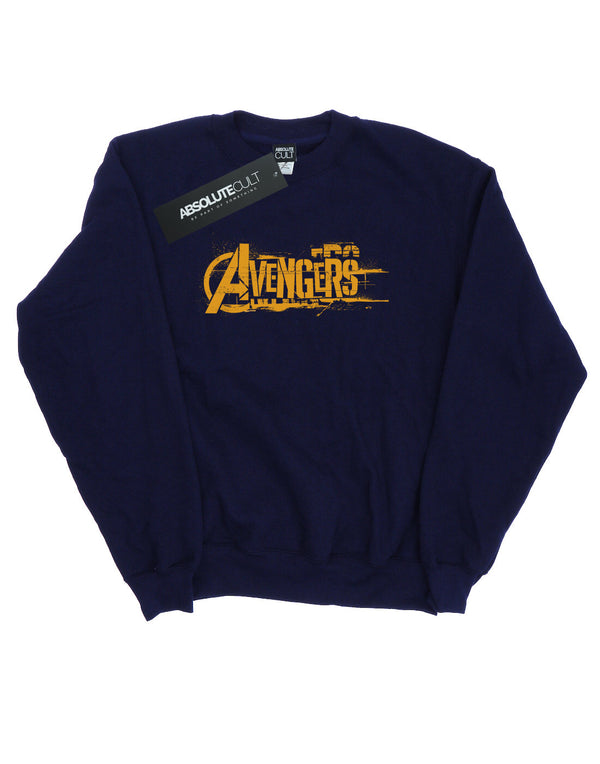 Avengers Women's Infinity War Orange Logo Sweatshirt