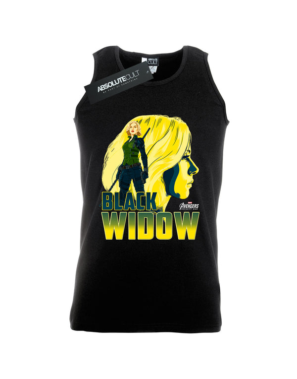 Avengers Men's Infinity War Black Widow Character Vest