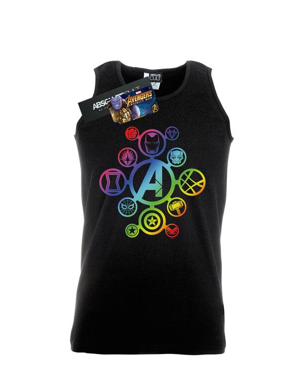 Marvel Men's Avengers Infinity War Rainbow Icons Vest