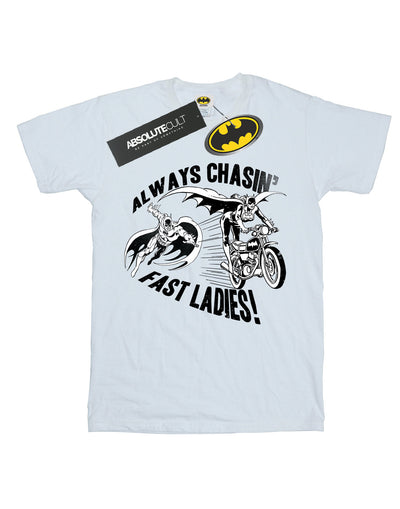 DC Comics Women's Batman Always Chasin' Boyfriend Fit T-Shirt