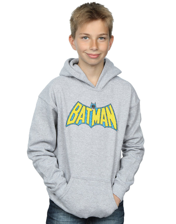DC Comics Boys Batman Crackle Logo Hoodie
