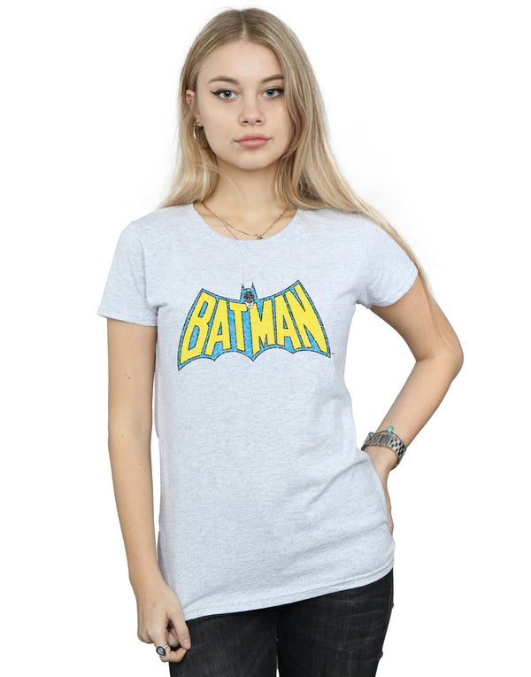 DC Comics Women's Batman Crackle Logo T-Shirt