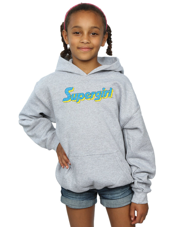 DC Comics Girls Supergirl Crackle Logo Hoodie